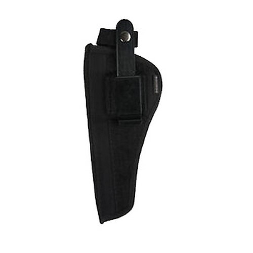 Bulldog Cases Belt and Clip Holster Ambidextrous Fits Revolvers 3-4in. Black FSN-12