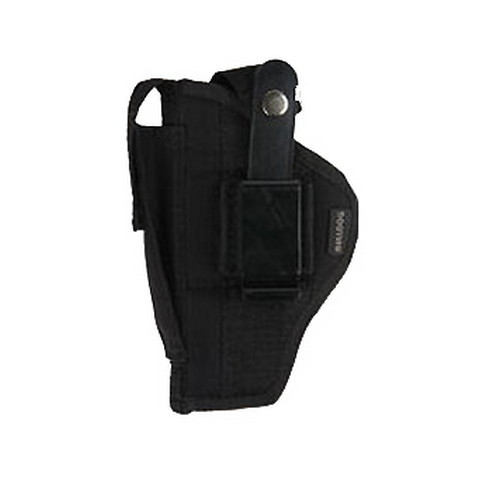 Bulldog Cases Belt and Clip Holster Ambidextrous Fits Standard Autos 2-5in. with Light Black FSN-19