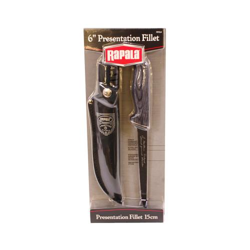 Rapala Fillet Knife Presentation Gray Laminate Handle PRFGL6