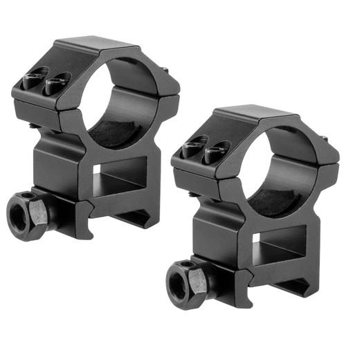 Barska Optics Weaver Style HQ Rings 1in. High Height Matte Black AI13186
