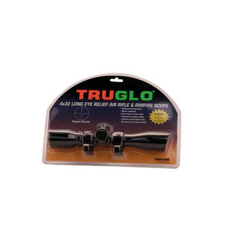 Truglo Scope 4x32mm with .375in. Rings Duplex Reticle Matte Black TG8504BR