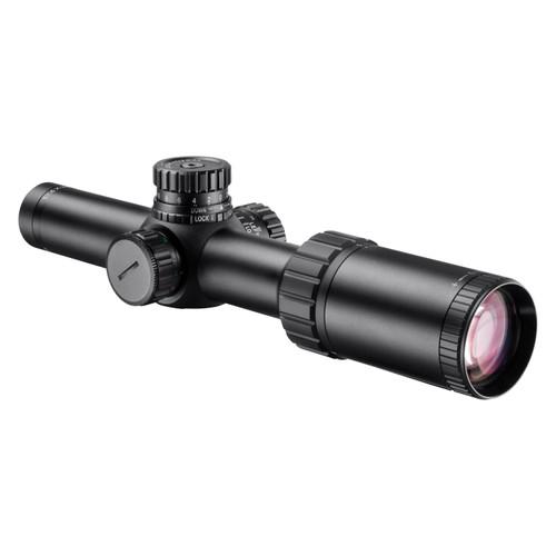 Barska Optics Level HD Riflescope 1-4x24mm. 30mm. Nain Tube Illuminated HRS .223 BDC Reticle Matte Black AC12798