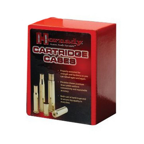 Hornady Cartridge Cases Reloading Brass .22-250 Remington Unprimed 50-Pack 8610