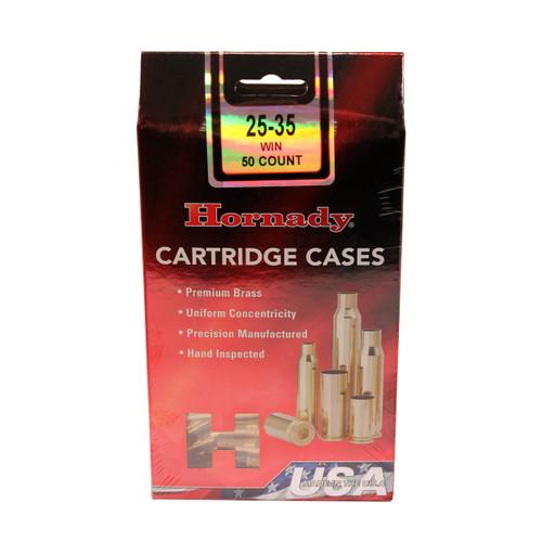 Hornady Cartridge Cases Reloading Brass .25-35 Winchester Unprimed 50-Pack 86101