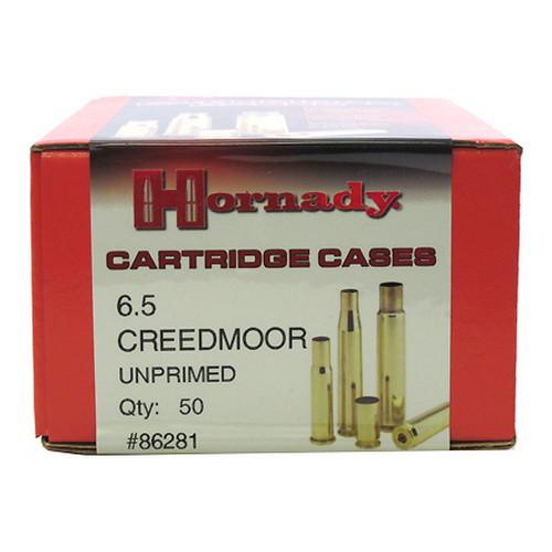 Hornady Cartridge Cases Reloading Brass 6.5mm Creedmoor Unprimed 50-Pack 86281