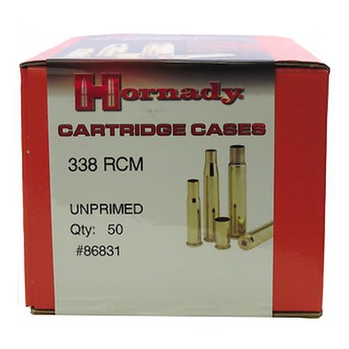 Hornady Cartridge Cases Reloading Brass .338 RCM Unprimed 50-Pack 86831
