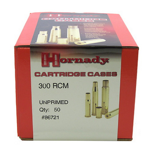 Hornady Cartridge Cases Reloading Brass .300 RCM Unprimed 50-Pack 86721