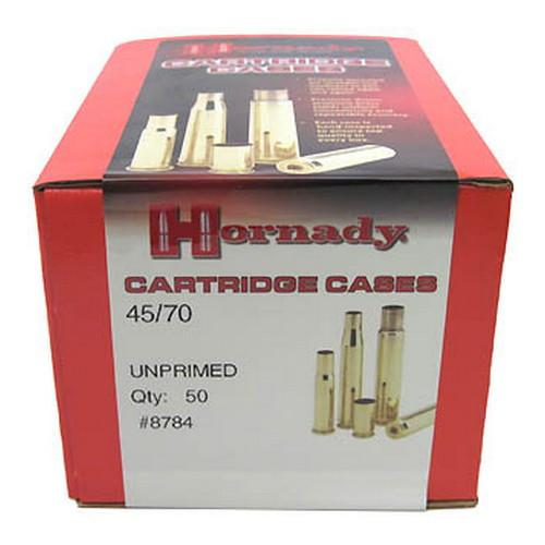 Hornady Cartridge Cases Reloading Brass .45-70 Government Unprimed 50-Pack 8784