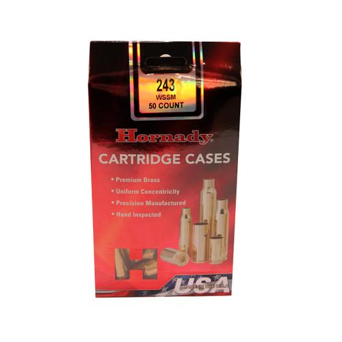 Hornady Cartridge Cases Reloading Brass .243 WSSM Unprimed 50-Pack 86202