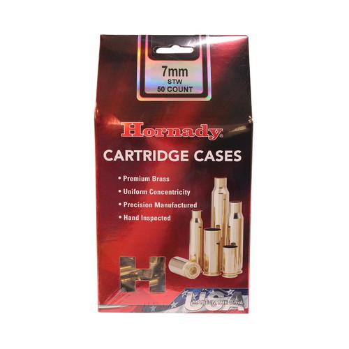 Hornady Cartridge Cases Reloading Brass 7mm STW Unprimed 50-Pack 8643