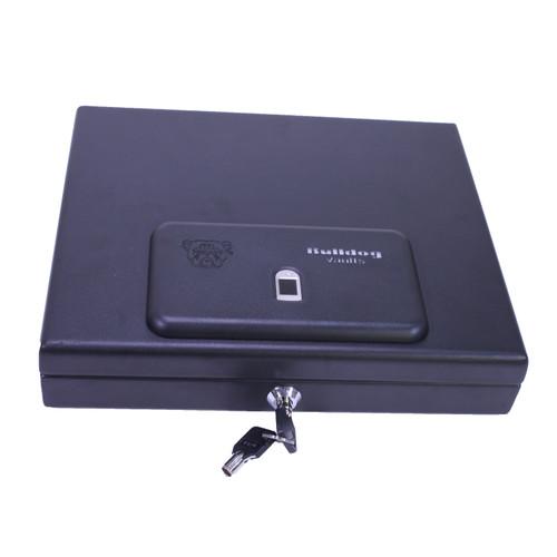 Bulldog Cases Magnum Biometric Fingerprint Pistol Vault Top Load 11.5in x 9.8in x 2.5in Black Matte BD4055B