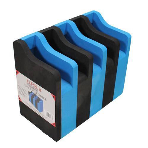 G Outdoors 5 Pistol Soft Cradle Holder Black/Blue GPS-F500CRN