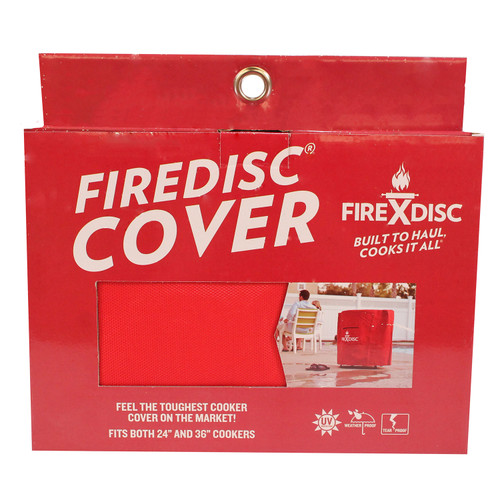FireDisc Cookers Deep Portable Cooker Cover Jacket Sheath (24 in.) Fireman Red TCGFDCR