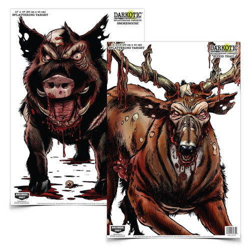 Birchwood Casey Darkotic Combo Smokehouse and Blood Trail Targets 4 of Each Target 35627