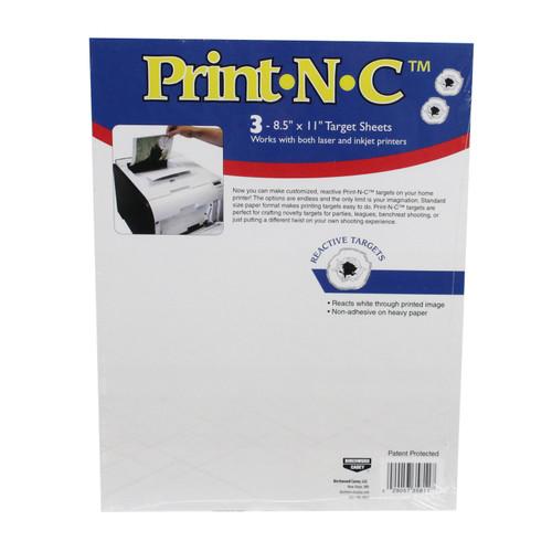 Birchwood Casey Print•N•C Targets 8.5in. x 11in. 3-Pack 35811