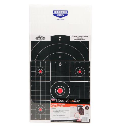 Birchwood Casey Sharpshooter Tab-Lock Dirty Bird Assorted Target Kit 38106