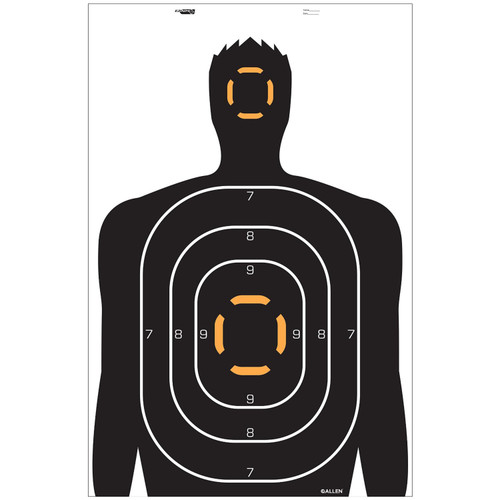 Allen Cases EZ Aim Targets Human Silhouette Style 4-Pack 15202