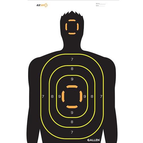 Allen Cases EZ Aim Targets Human Silhouette Style 5-Pack 15229