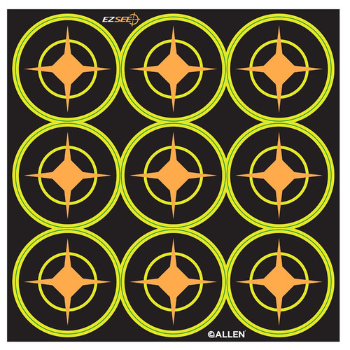 Allen Cases EZ Aim Targets Splash 2in. Round Aiming Dots 12-Pack 9 Targets Per Sheet 15252