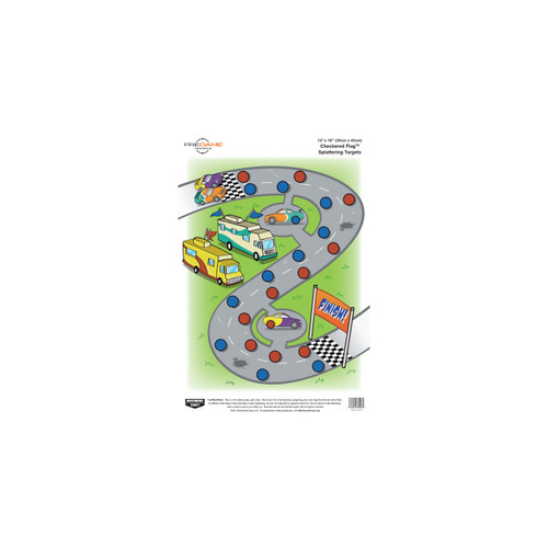 Birchwood Casey Pregame Targets Checkered Flag Target 12in. x 18in. 8-Pack 35574