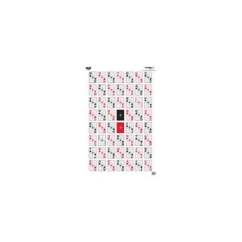 Birchwood Casey Eze-Scorer 52-Card Shoot-Up Paper Target 23in. x 35in. 5-Pack 37026