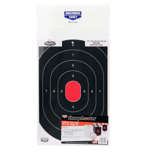 Birchwood Casey Sharpshooter Tab-Lock Dirty Bird Silhouette Target Kit 38104
