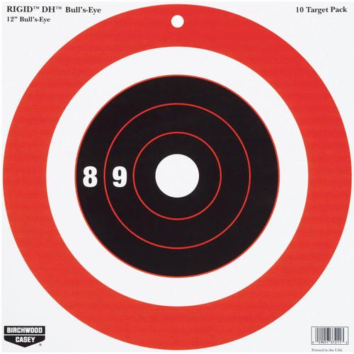 Birchwood Casey Rigid DH Bull's Eye Target 12in. 10-Pack 37211