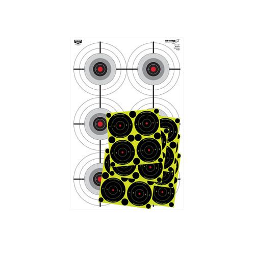 Birchwood Casey Eze-Scorer Training Multiple Bull's-Eye Target 23in. x 35in. 37444