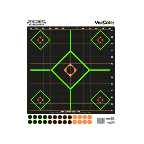 Champion Traps and Targets Peel and Stick Sight-In Targets 130 Pastors 5-Pack 46130