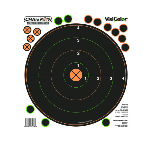 Champion Traps and Targets Peel and Stick Sight-In Targets 100yd. 30 Pastors 5-Pack 46132