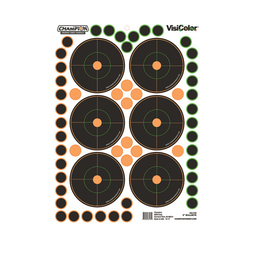 Champion Traps and Targets Peel and Stick Bullseyes Targets 3in. 150 Pastors 5-Pack 46135