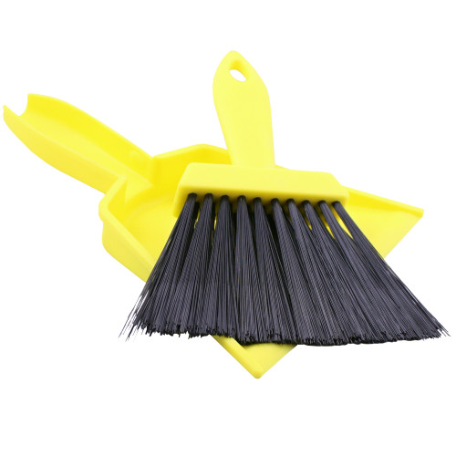 Coghlans Tent Whisk & Dust Pan (8.5 in.) Yellow 8407
