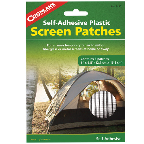 Coghlans Screen Patches (5in. x 6.5in.) 3-Pack 8150