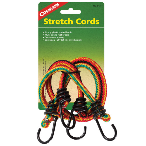 Coghlans Stretch Cords (20 in.) 2-Pack 512