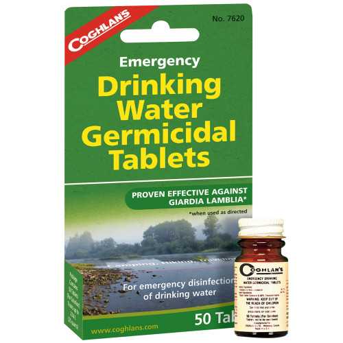 Coghlans Emergency Germicidal Drinking Water Tablets 7620
