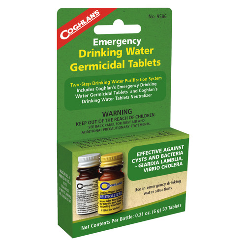 Coghlans Two Step Emergency Drinking Water Treatment 9586