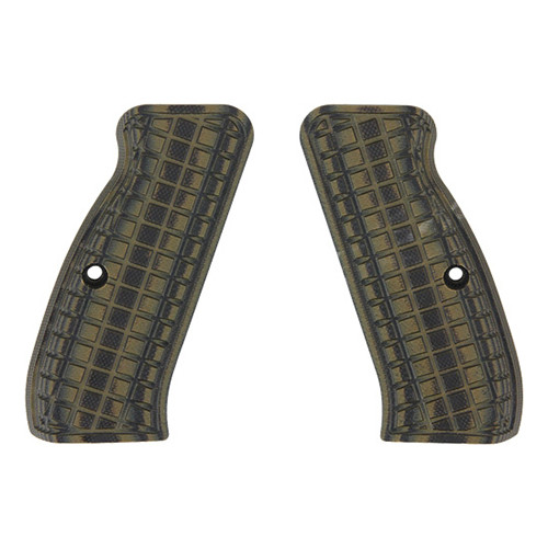 Pachmayr G-10 Tactical Pistol Grips Fits CZ 75 Coarse Green/Black 61110