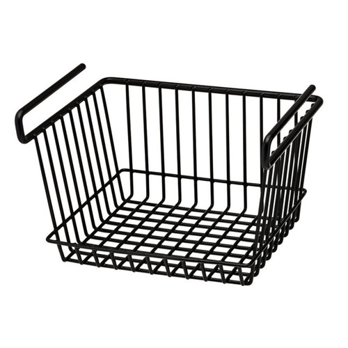 SnapSafe Hanging Shelf Basket Large Black 76011