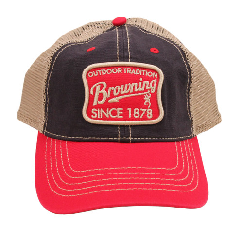 Browning Trenton Cap One Size Red/Black 308252611