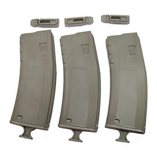 Troy Industries Battlemag 30 round Magazines - Flat Dark Earth - 3 pack SMAG-3PK-00FT-00