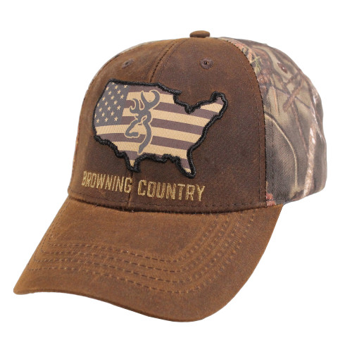 Browning Country Cap One Size with Hook and Loop Camouflage 308776281