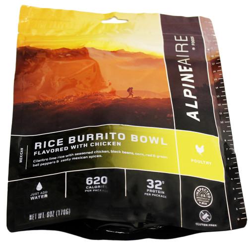 Alpine Aire Foods Chicken & Rice Burrito Bowl Serves 2 60453