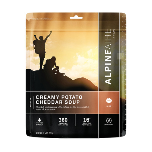 Alpine Aire Foods Creamy Potato Cheddar Soup Serves 2 60701