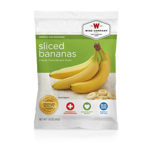 Wise Foods Sliced Bananas (4 servings) Fruit 2W02-401