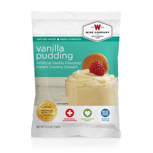 Wise Foods Vanilla Pudding (4 servings) Dessert Dish 2W02-409