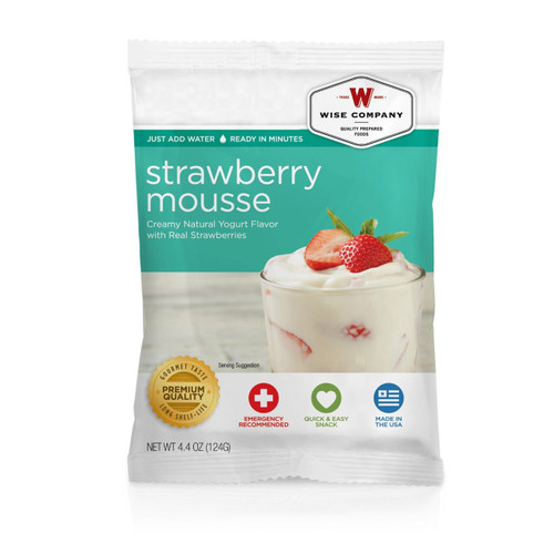 Wise Foods Strawberry Mousse (4 servings) Dessert Dish 2W02-410