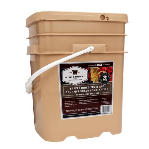 Wise Foods Freeze Dried Fruit & Snack Bucket 120 Servings 40-50120