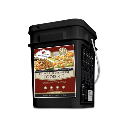 Wise Foods 84 Serving Entrée Grab & Go Gluten Free Bucket WGF01-184