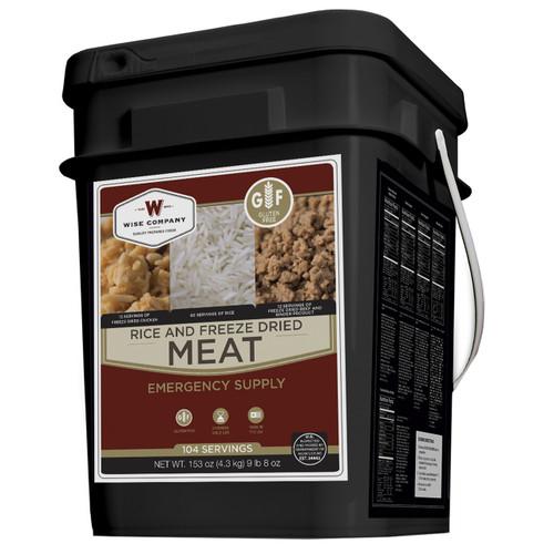 Wise Foods Protein Bucket 104 Servings Meat & Rice Gluten Free WGF07-704