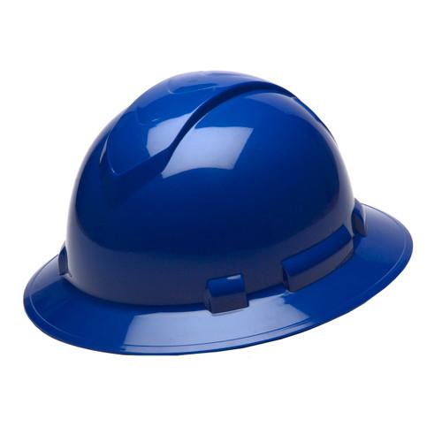 Pyramex Safety Ridgeline Full Brim Hard Hat 4-Point Ratchet Blue HP54160